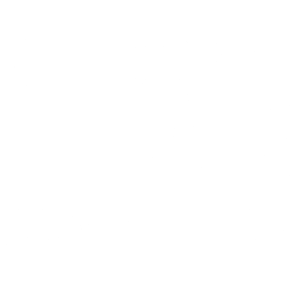 Logo we don't fear competition