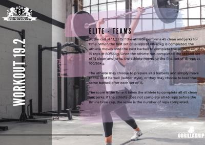 Workout 19.2 ELITE/TEAM