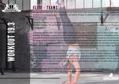 Workout 19.3 ELITE/TEAM
